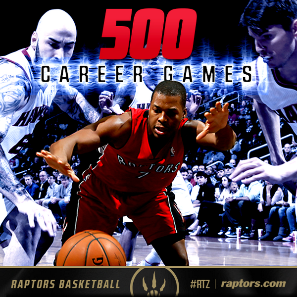 #Raptors starters vs. Magic: DeRozan, Ross, Johnson, Valanciunas & Lowry in his 500th career game #RTZ http://t.co/O2i0tKMjZ8