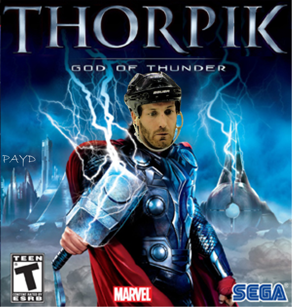 Obviously, the Hawks don't play the Pens enough, not familiar with Orpik's true identity. http://t.co/t2mqtevsYa