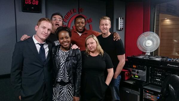 Last 5FM Mornings show with these muppets @GarethCliff @LeighAnnMol @MabaleMoloi @DamonKalvari @ThaboModisane http://t.co/JUoUtgrDAx