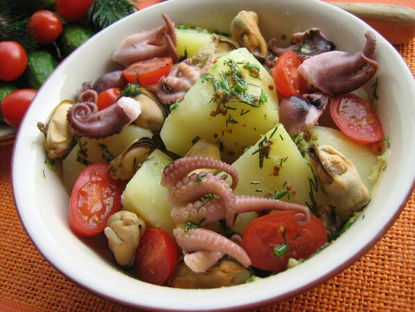 салат с осьминогом рецепт с фото