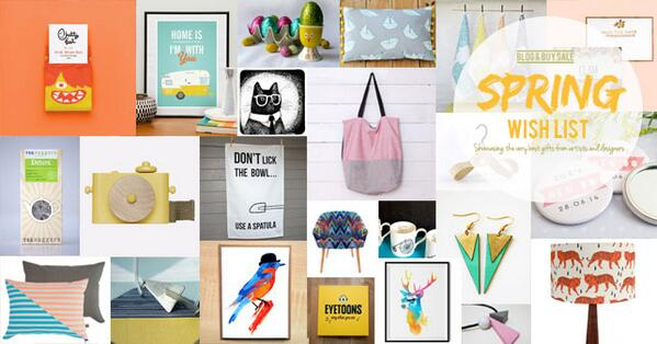 The #SpringWishList has finally sprung! Showcasing creative products from designers/makers | http://t.co/OpIroKiouO http://t.co/N3wpSYldmQ