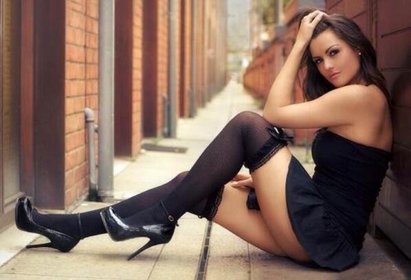 Sweet victoria black lingerie