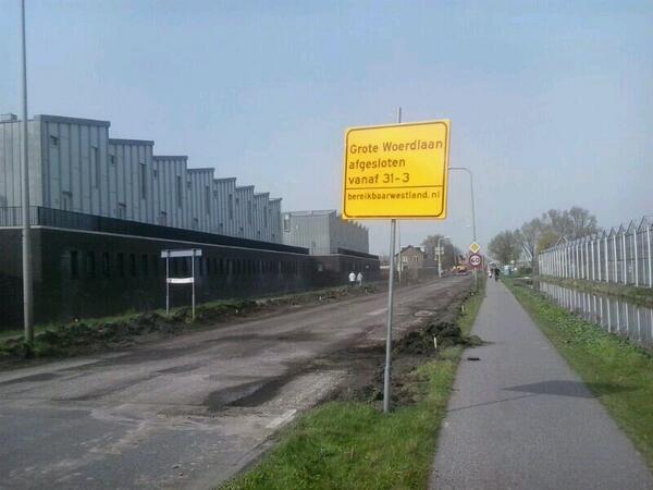 Nachtafsluitingen van rotonde Bosweg tot Rijnsburgerweg