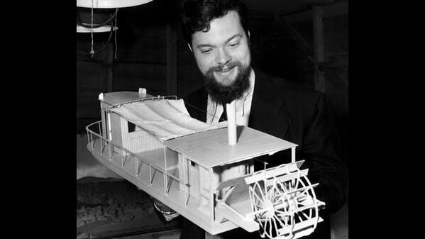 RT @HistoryDean Orson Welles is playing with little ships in Heart of Darkness