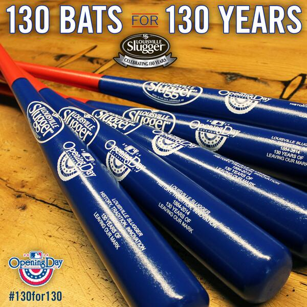 To celebrate our 130th anniversary & #OpeningDay we're giving away 130 collectible bats! RETWEET TO WIN! #130for130 http://t.co/7crvXKeqKo