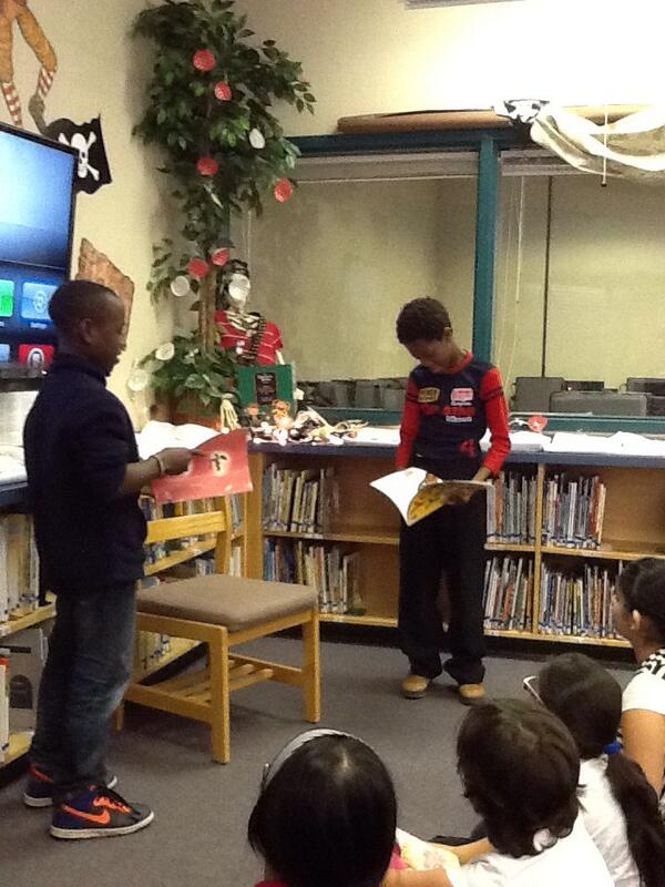 R and L act out 'Yo Yes' by Chris Brown. @georgesvanier36 #learningcommons http://t.co/6F4EpCPod4