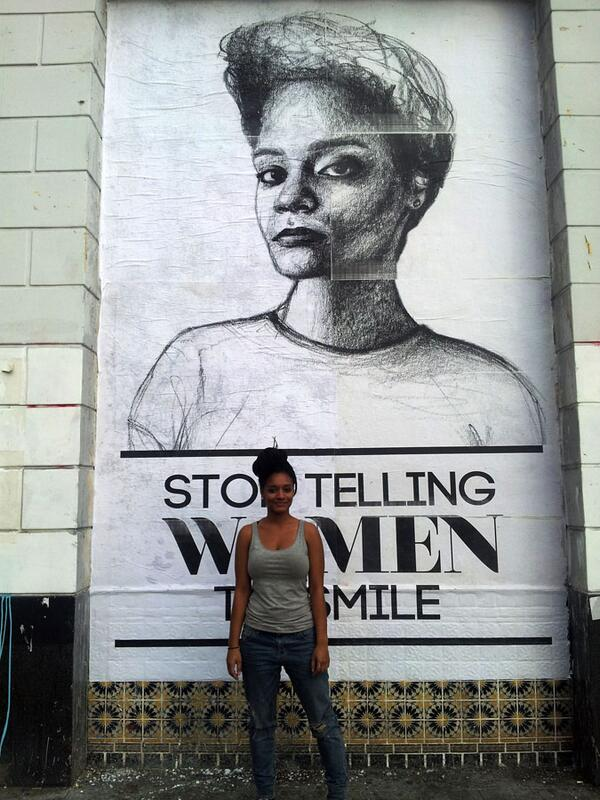 Artist @fazlalizadeh is planning a big anti-street harassment art action this week: http://t.co/Lm3MMn4gAM #endsh http://t.co/CFTpnTaunR