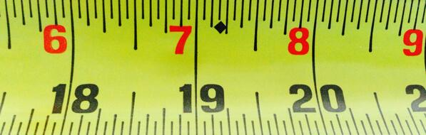 "DID YOU KNOW: The black diamond marks on our tape rules appear every 19.2"". Use them to space joists and studs. http://t.co/KcyWEfRUp2"