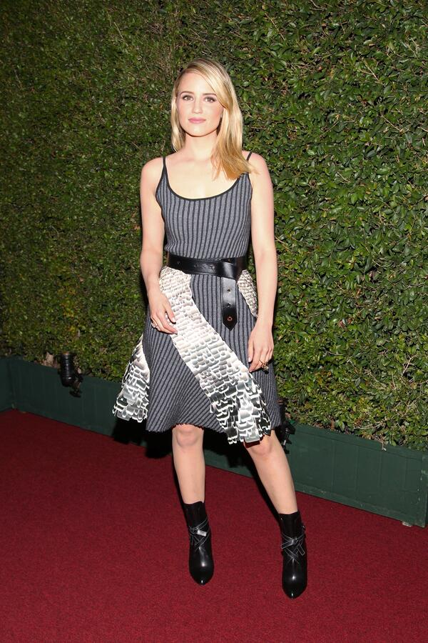 .@DiannaAgron in #LouisVuitton F/W Collection by Nicolas Ghesquière for the 35th Anniversary #MOCAgala http://t.co/ZiAEMETj3E