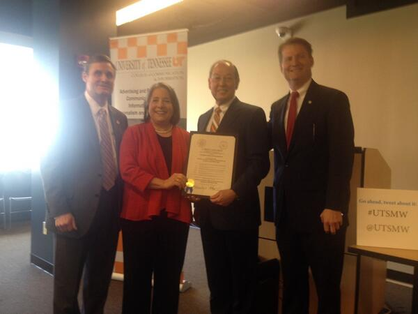 "Thanks WATE for supporting: ""6News: .@MayorRoger & @timburchett  declaring March 31-April 3, 2014 @UTSMW. #UTSMW http://t.co/qsZ6Jd96iO"""