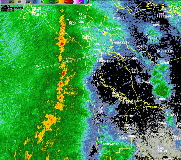 Heads up!!!  Moderate to heavy rain and possible small hail on the way.  Arriving later this hour!  Please RT. #sf http://t.co/aODwh7qVFs