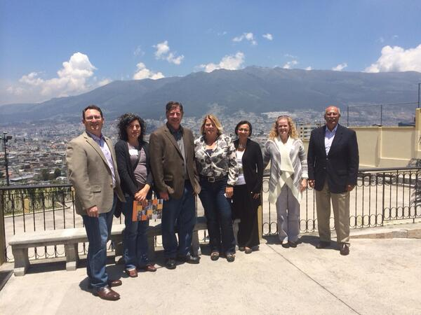 A group picture of professors in Quito, Ecuador.