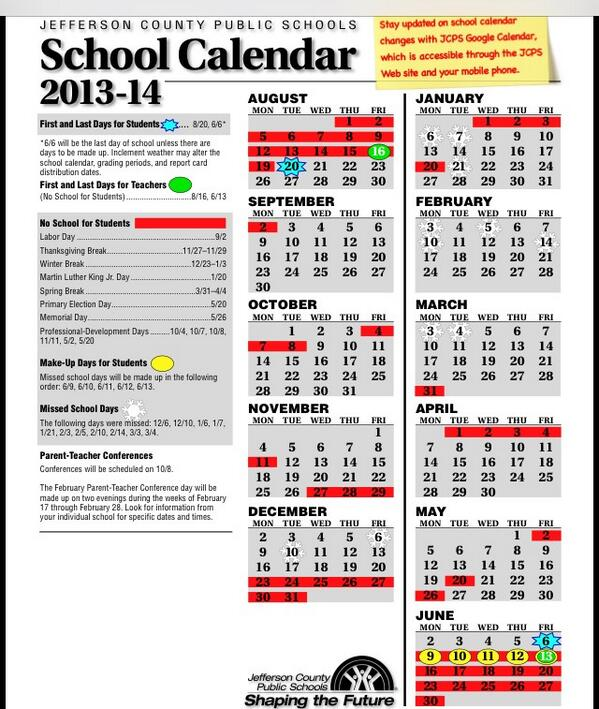 Brandy Schaefer On Twitter Tkonz Here Is Revised Jcps Calendar