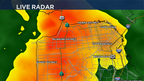 Yay! MT @nbcbayarea HEAVY RAIN IN SAN FRANCISCO: SF is getting drenched. Expect it for next 20 mins. #bayarearain http://t.co/NmA7Fe4vEc