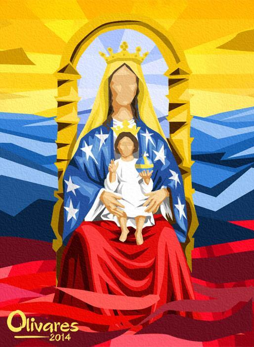 Virgen chiquinquira caricatura - Imagui