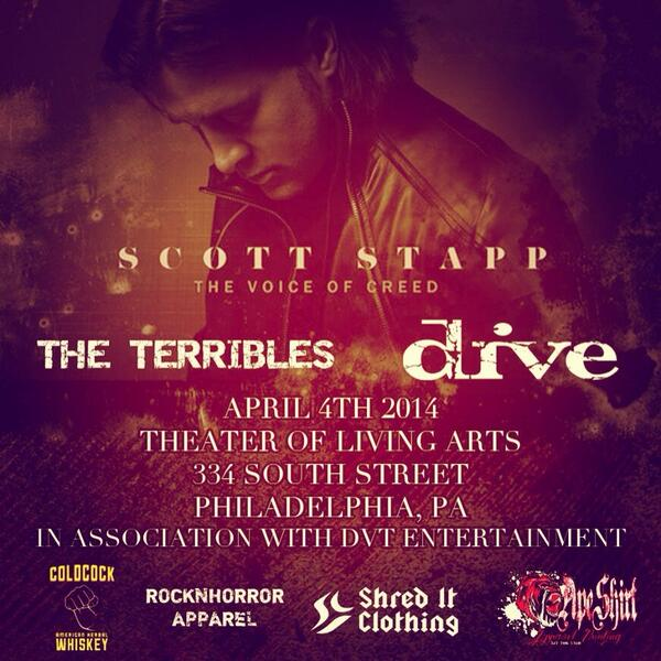 It's time #Philadelphia! This FRIDAY we rock the @TLAPhilly on South Street with the one and only @ScottStapp! http://t.co/wLQEWPQZIl