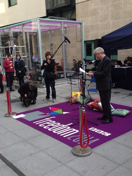 BBC Director General Tony Hall recites W H Auden as part of Freedom Live on BBC World Service. #Freedom2014 http://t.co/CpSRECGv7w