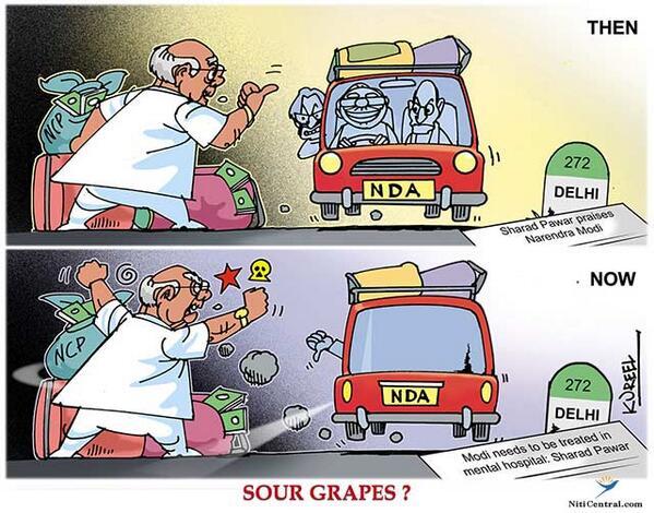 sharad pawar kureel cartoon के लिए इमेज परिणाम