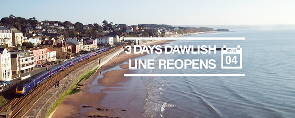 3 days until the Dawlish line reopens! http://t.co/sPNdaYjDbK