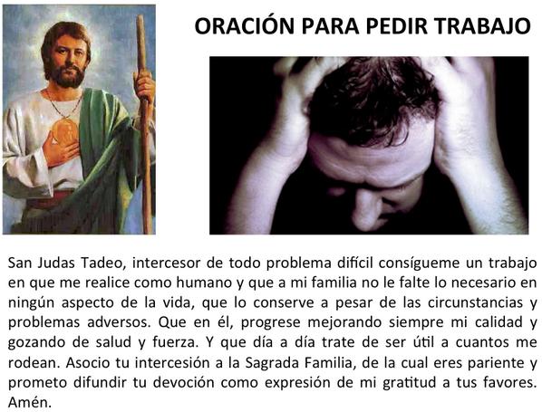 Oracion para trabajo o empleo