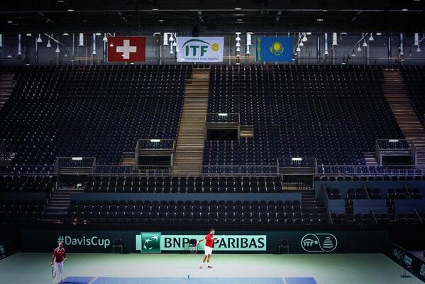 Cuartos de final, Suiza Vs Kazajstan del 4 al 6 de Abril de 2014. BkIpWIiIAAARA5R