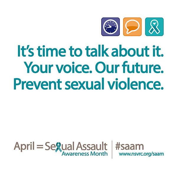 No fooling - It's #SexualAssault Awareness Month! Use #socialmedia for the Day of Action #SAAM http://t.co/yl3usljffx http://t.co/2GeP5e8kqI