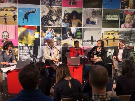 .@raziaiqbal & chaplain Rose Hudson-Wilkin, poet Jade Amoli Jackson, author Kamila Shamsie and @BBCDomC #freedom2014 http://t.co/aOstW5wpTi