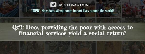 In other words: Does #Microfinance really help solve #poverty? #MicrofinanceChat http://t.co/0fOuLH7CWj