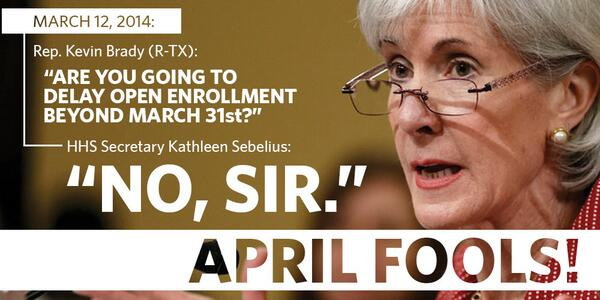 This #AprilFools joke is just another one of #Obamacare's #brokenpromises. http://t.co/wQW8JxRNht