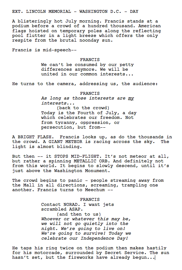 A sneak peak of the first scene of Season 3 of @HouseofCards --> http://t.co/DuzAGyNmFQ