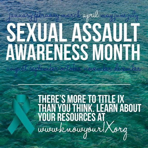 Sexual Assault Awareness Month starts today! What events do you have planned for your campus? #SAAM #TitleIX http://t.co/M0w6qNKaGJ