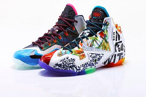 LeBron comes out w/ Skittles sneakers