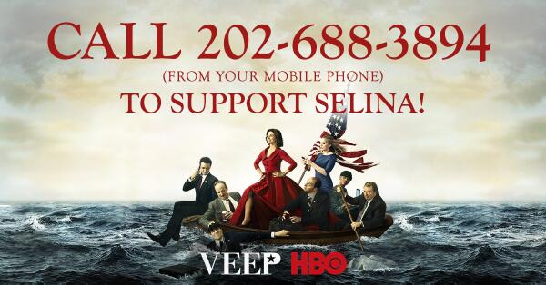 Have you supported Selina Meyer today? Call 202-688-3894 & show us what Mike McClintock sends you #iSupportSelina http://t.co/4TR5ZyUZt5