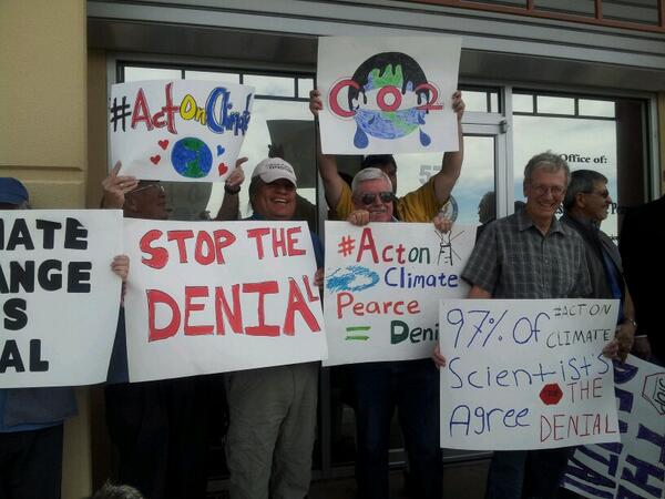 Thanks to 40+ folks who told Rep Pearce don't be #ClimateFool #ActOnClimate @OFA_NM @jsmith_ofa @sara_ela http://t.co/KhUH2SRh0O