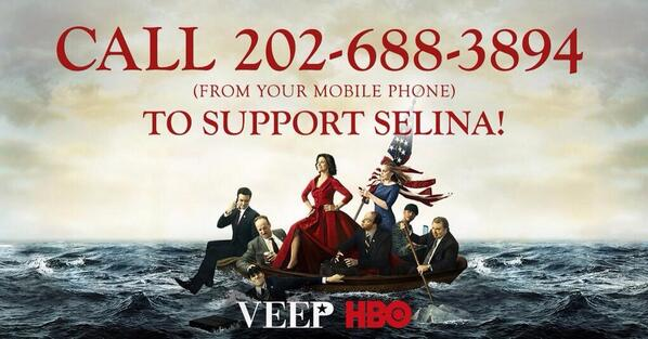 Thank you @VeepHBO and Mike McClintock for making my day! So glad I called. :) #iSupportSelina http://t.co/Fiw3uhsMN7