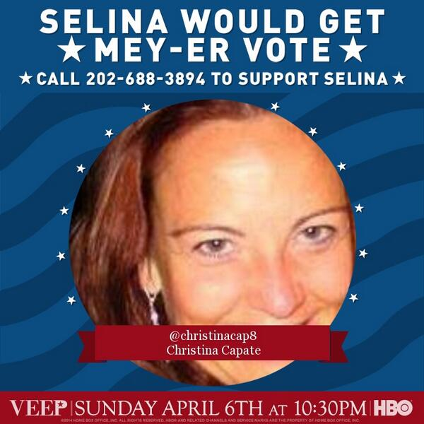 Hey #veeple! Text Veep to 444999 to hear Mike's message on how to help the campaign! #iSupportSelina @VeepHBO :) http://t.co/wm2U8ZrCNn