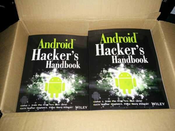 Android Hacker's Handbook is now shipping! Get yours today! Electronic version release will be in ~ 2 weeks http://t.co/8fuwt8BgZt