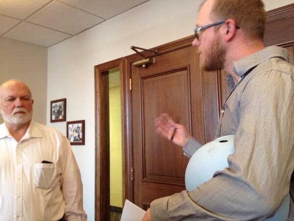 Chris discusses the importance of acting on climate change NOW at @RepSteveChabot office. #ClimateFool #OFAction http://t.co/RJJyoJnVDp