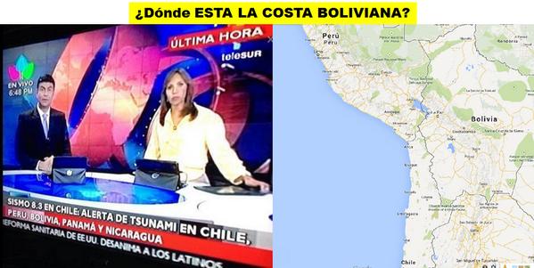 Atencion se registra alerta de tsunami en bolivia