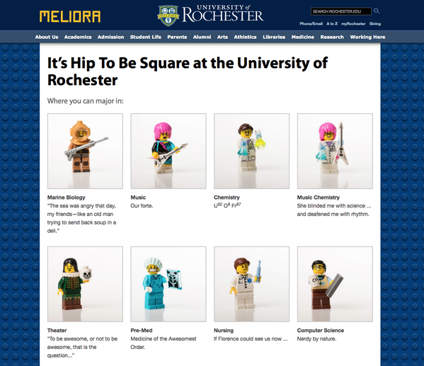 University of Rochester—Great 4/1 page (and see homepage too) http://t.co/FAYOL5wXxZ #funny #SMMarketing #highered http://t.co/4EmQyFYLwy