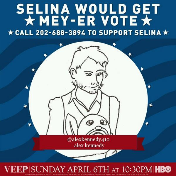 Mike is the only one that texts me @VeepHBO call 202-688-3894 to show your support! #iSupportSelina http://t.co/5cMm2H5mDA