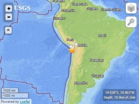 BREAKING: PTWC: Major earthquake strikes off Chile; tsunami warnings issued: http://t.co/ahukmIecIj http://t.co/vNmxxkzjQf