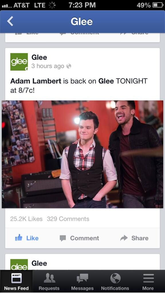 "Wow this Glee post on FB has 3x the amount of ""Likes"" compared to others http://t.co/m5KwlwUcI0"