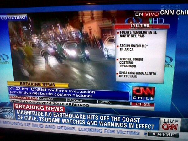 @CNN Internacional informa del terremoto en Chile a traves de @CNNChile. http://t.co/Xc7f4bawUD