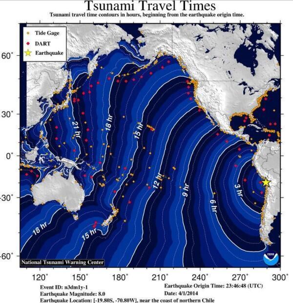 """Lo que tardarán las olas en llegar a distintos puntos #tsunami http://t.co/ZTNIWMI3Bx"""""""