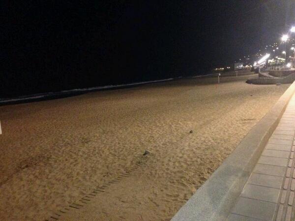 Mar levemente retirado en Reñaca http://t.co/a2AjGrOHQB
