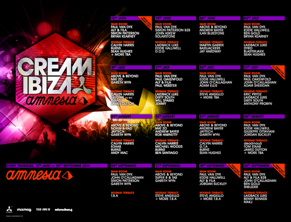 Here it is, our #CreamIbiza14 line up announcement! Who's joining us this Summer? http://t.co/xssIe2Gydm