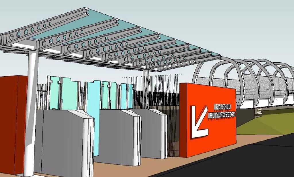 Nouvelle passerelle d'accès Parc - Hôtel du Futuroscope - Page 2 BkN778dIQAAoPev
