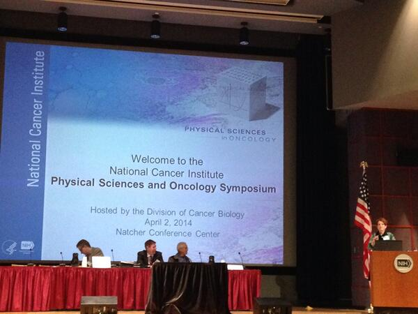 DCB director Dr. Dinah Singer kicking off the Physical Sciences and Oncology Symposium! #PhysOnc http://t.co/5xdoswqgFn