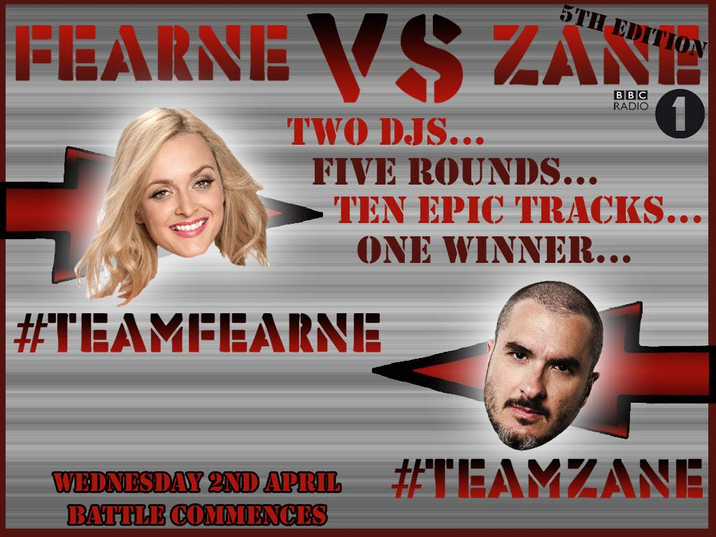 RT @BBCR1: From midday today, let the battle commence! Are you #TeamFearne or #TeamZane? Get involved! http://t.co/OSTjnoM7mS